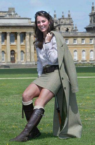 la future princesse britannique Kate Middleton 23 Juillet 2004 palais de Blenheim