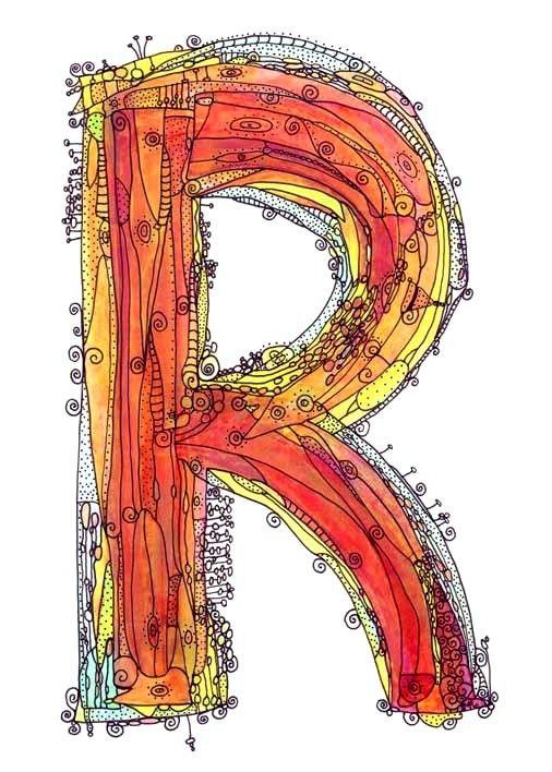 letter doodles & watercolor
