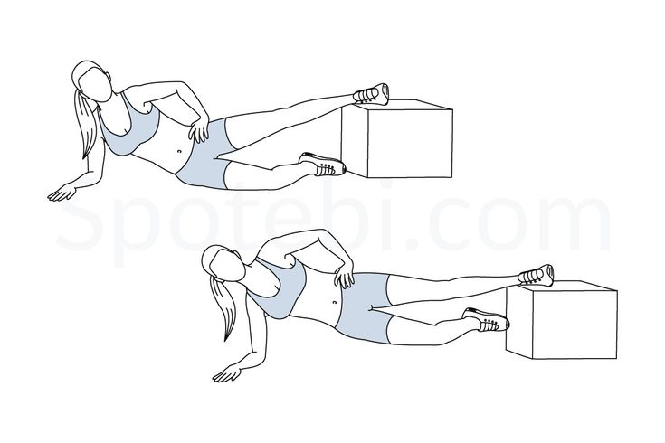 Inner thigh raise to plank exercise guide with instructions, demonstration, calories burned and muscles worked. Learn proper form, discover all health benefits and choose a workout.