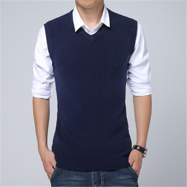 2017 New Arrival Autumn Clothing Cashmere Sweater Men Vests Wool Vest Knitted Mens Cardigans Sleeveless waistcoats