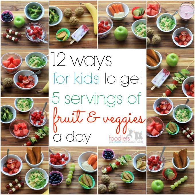 You know how we'resupposed to eat 5 servings of fruit & veggies a day? Adults should eat 5 servings, kids should eat 5 servings. Most of us aren't. In 2013, the CDC found that most American ad...