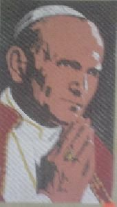 The Pope Praying Needlepoint Canvas