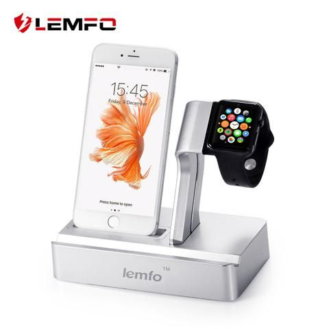 3 in 1 Charging Dock Station Triple Holder Stand For Apple Watch LEM5 LEM4 Smartwatch iPhone Mobile Phone iPad Tablet