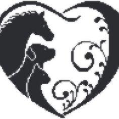 """Grille de kalys - point de croix """"l'amour des animaux"""" - envoi mail"""