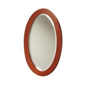 Decolav Ancahra 16 In W X 275 H Cherry Oval Bathroom Mirror 250048