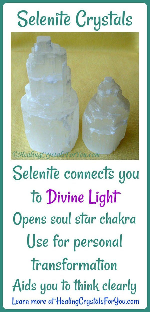 Selenite Meaning Healing Properties Use To Connect To Divine Light Crystals Healing Grids Healing Crystals For You Divine Light