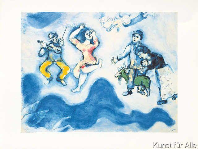 Marc Chagall - Die Gefährten Charlots (1939)