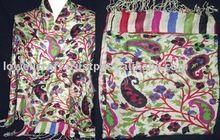 bufanda y mantones de Pashmina de la cachemira del telar jacquar LOWELL DESIGNER CRAFT