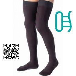 Tips para cuando trabajas mucho tiempo de pie  Los calcetines de compresión son especialmente importantes para las personas que sufren de insuficiencia venosa (válvulas de las venas con filtraciones) o de venas varicosas inflamadas