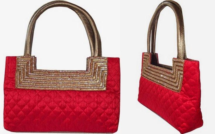 Moksh Red party Hand-held Bag.To buy/0rder online  http://www.maguvathefashionworld.com/2014/10/10-trendy-handbags-for-shopping.html#.VDwv_N3F8kO