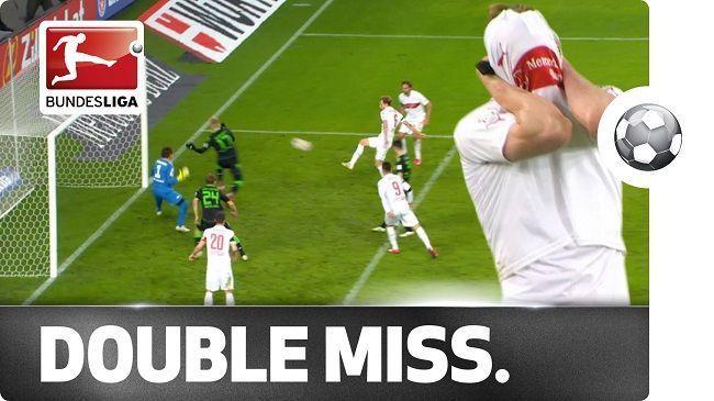 Georg Niedermeier dwukrotnie nie strzelił gola z bliskiej odległości • Liga Niemiecka • VfB Stuttgart vs Borussia Moenchengladbach >>