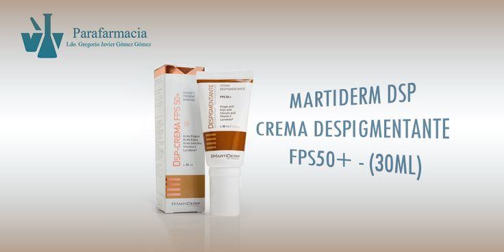 Crema despigmentante SPF50+ Martiderm. Corrección de manchas cutáneas en todo tipo de pieles con protección solar alta.