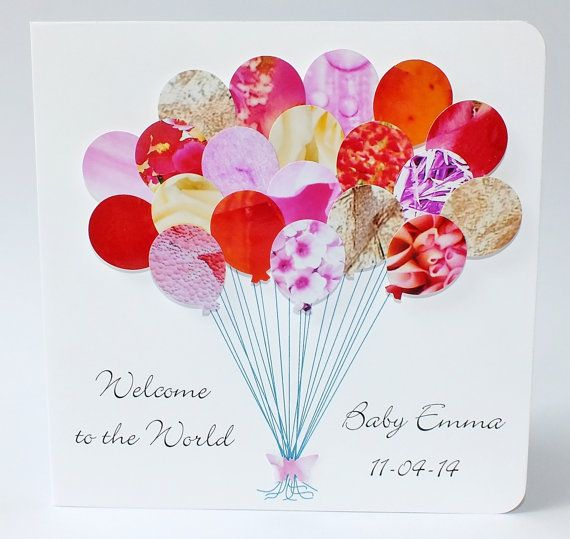 Handmade Personalised New Baby Girl Card  3D by CardsbyGaynor, £3.95