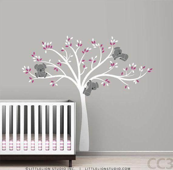 Perfect Koala Baum Wand Abziehbild modernen Baby Kinderzimmer Dekor