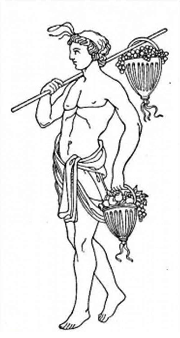 A Roman Figure Of Greek Mythology God Coloring Page