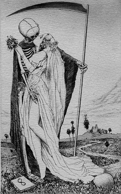 Morte, vai encontrar os trovadores Que cantam amores vãos [...] Zomba bem, morte, de tuas peças. (Hélinand de Froidmont)