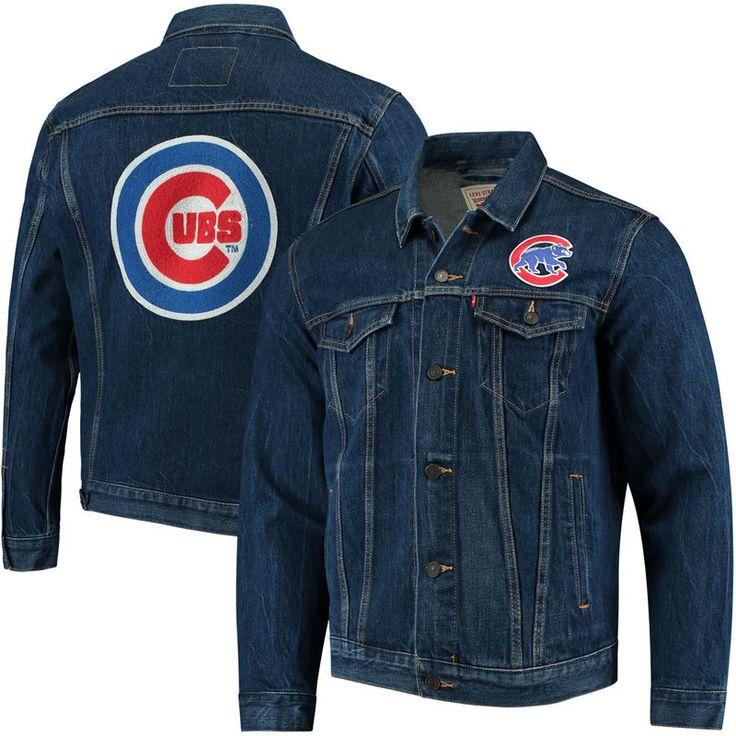 Chicago Cubs Levi's Trucker Jacket - Denim