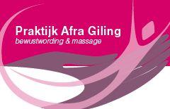 Praktijk Afra Giling, bewustwording en massage. Ook privé yogalessen en/of bij bedrijven.