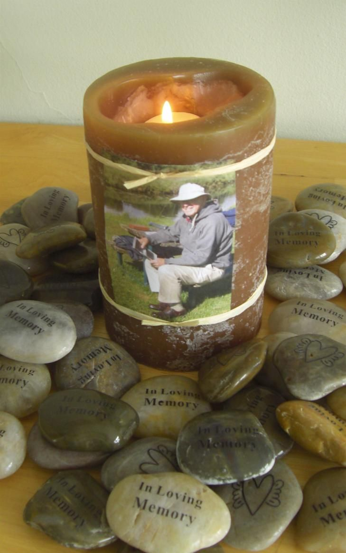 Memory Stones, In Lovng Memory, funeral favor for Memorial Service, or Life Celebration