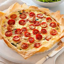 Ham, feta, asparagus and tomato quiche  YUM.  Everyone requested we have this again and soon!