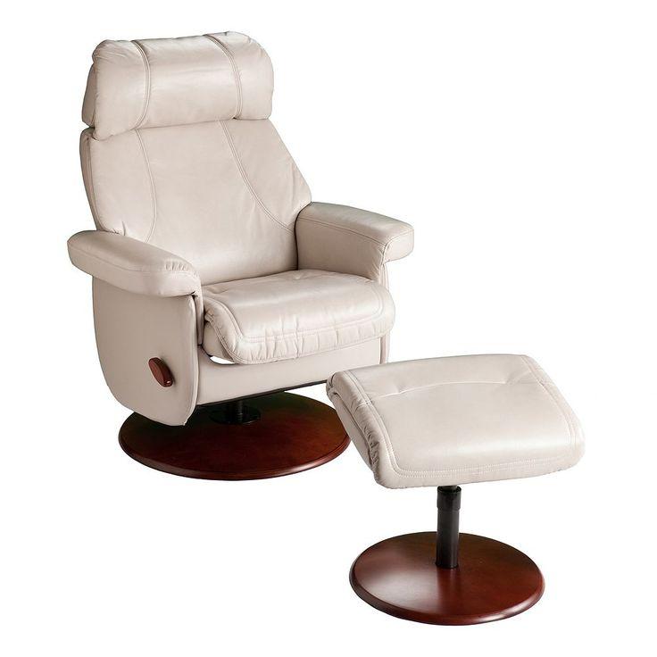 Swivel Glider Rocker Recliner Chair & Ottoman 2-piece Set, Beig/Green (Beig/Khaki)