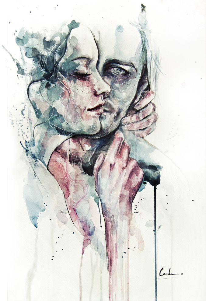 Por Vaas Aquarelas deSilvia Pelissero, artista italiana nascida em Roma,mais conhecida comoAgnes Cecile. http://agnes-cecile.deviantart.com&