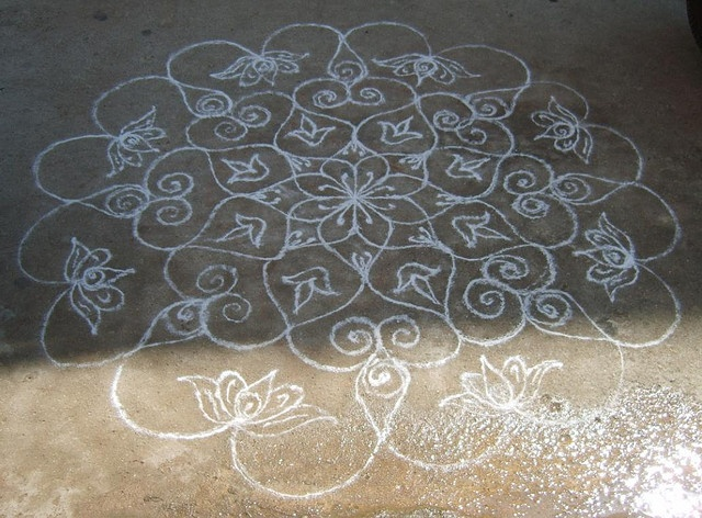 130 best images about mandala on pinterest mandala art for Floor rangoli design