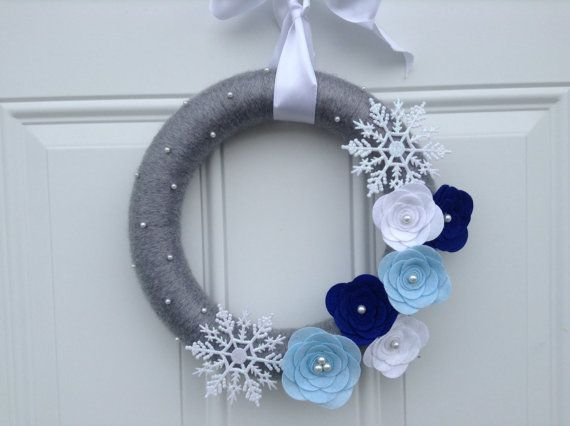 Ready to Ship Christmas Wreath Hanukkah Wreath by AnitaRexDesigns, $40.00