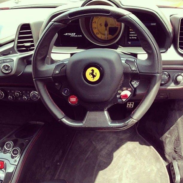 cockpit view italia458 a ferrarisexy carsfast