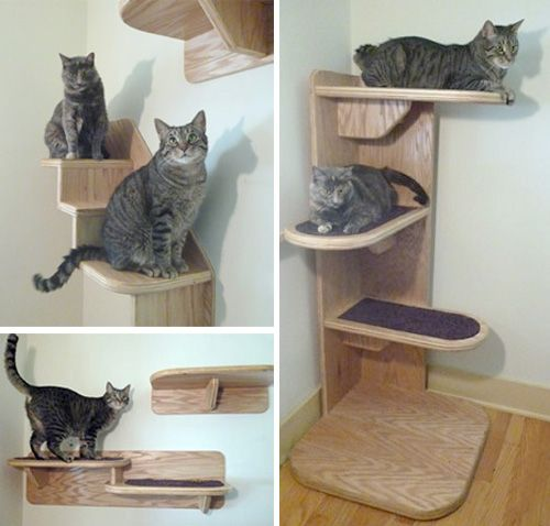 aha someone is making the cat clouds diy i like these - Cat Jungle Gym