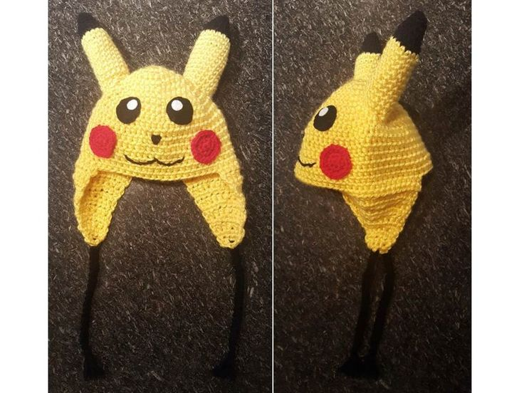 Pikachu hat crochet project by Catherine M