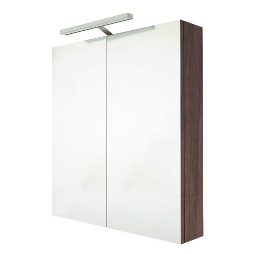 Saneux Austen walnut mirror cabinet with light and shaver socket £339 RRP