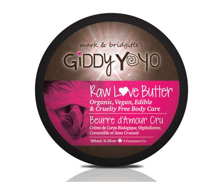 Giddy Yoyo RAW LOVE BUTTER is a full body edible moisturizer that nourishes and moisturizes the skin and smells and tastes like chocolate! #chocolate #love #bodycare