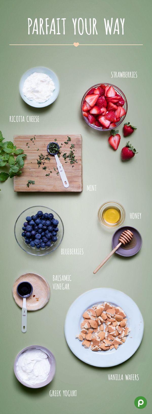 Publix white apron recipes - Berry Parfaits