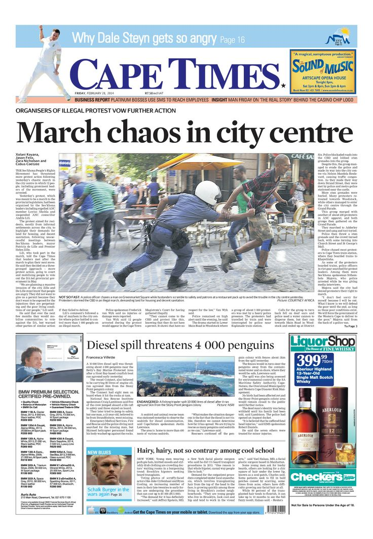 News making headlines: March chaos in city centre