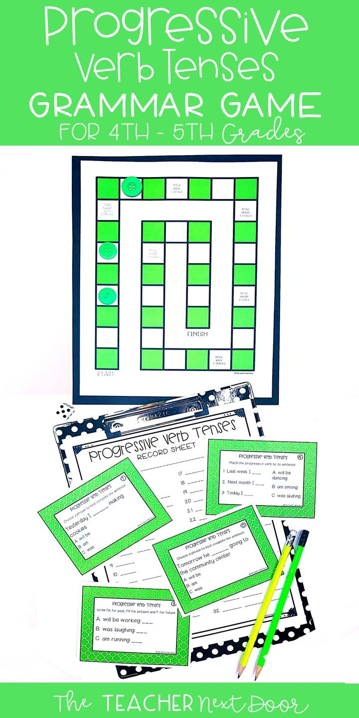 This Progressive Verb Tenses Game Will Give Your 4th 5th Grade Students Lots Of Practice Using Different Progressive Verbs Verb Tenses Verb Tenses Activities [ 1440 x 720 Pixel ]