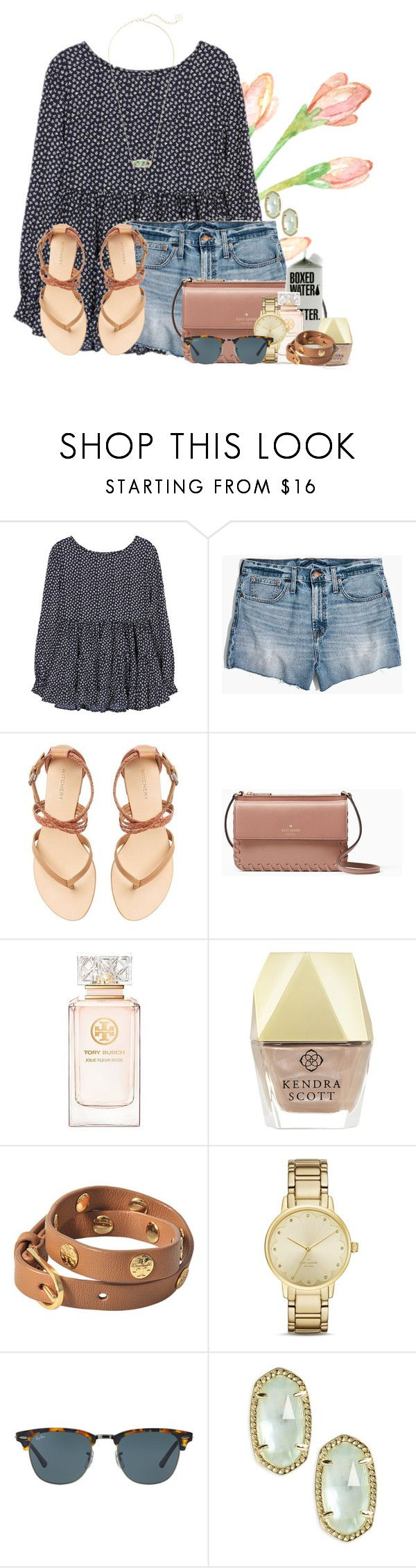 """Had a great time shopping! Should I do a mini haul"" by flroasburn ❤ liked on Polyvore featuring Madewell, Witchery, Kate Spade, Tory Burch, Kendra Scott and Ray-Ban"