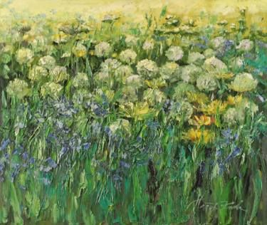 "Saatchi Art Artist Margaret Raven; Painting, ""Green smell of summer"" #art"