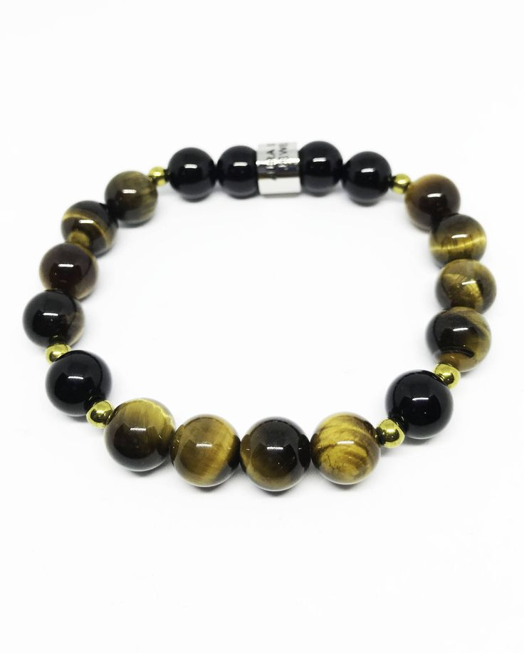 The Protection and Grounding Tigers Eye, Black Agate and Hematite bracelet