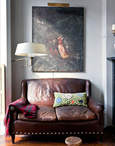 Kathleen Hackett and Stephen Antonson / The New York Times / Trevor Tondro {eclectic flea market vintage modern living room} | house | Pinterest | Home, Living…