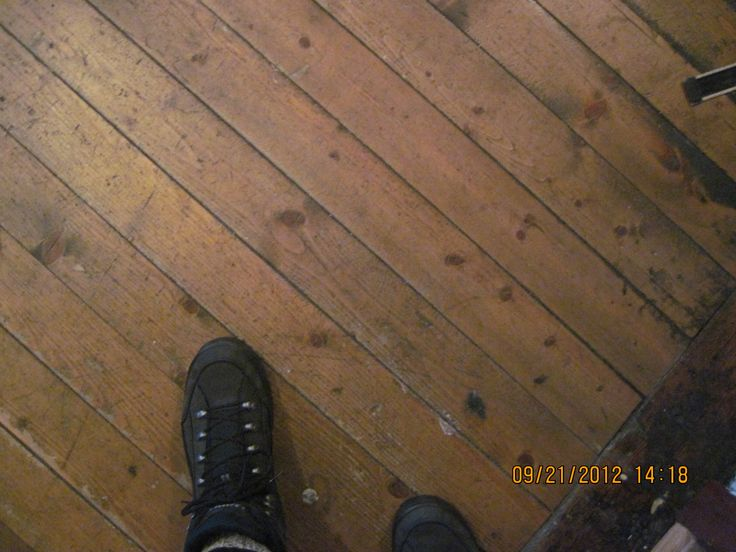 Some of the original wooden floor, sanded, oiled. And my Lowa hiking boots