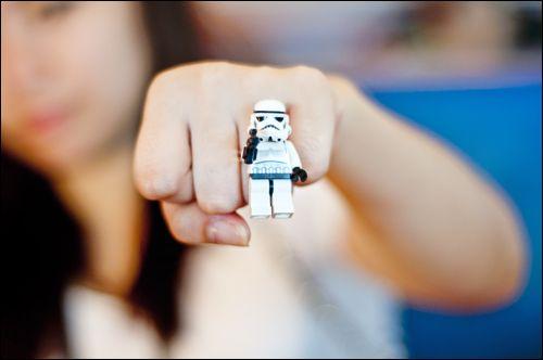 My DIY Stromtrooper Lego Minifigure Ring Submitted bykistykreme:
