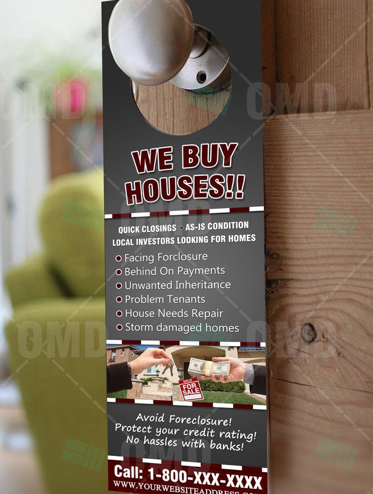 """Effective """"We Buy Houses"""" Door Hanger"""
