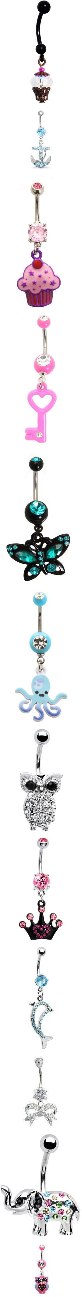 """""""Cute Belly Rings I Want"""" by bettys-blaming-it-on-september ❤ liked on Polyvore"""
