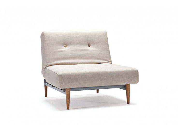 Fotel Fiftynine beżowy 501 nogi ciemne drewno — Fotele INNOVATION iStyle — sfmeble.pl