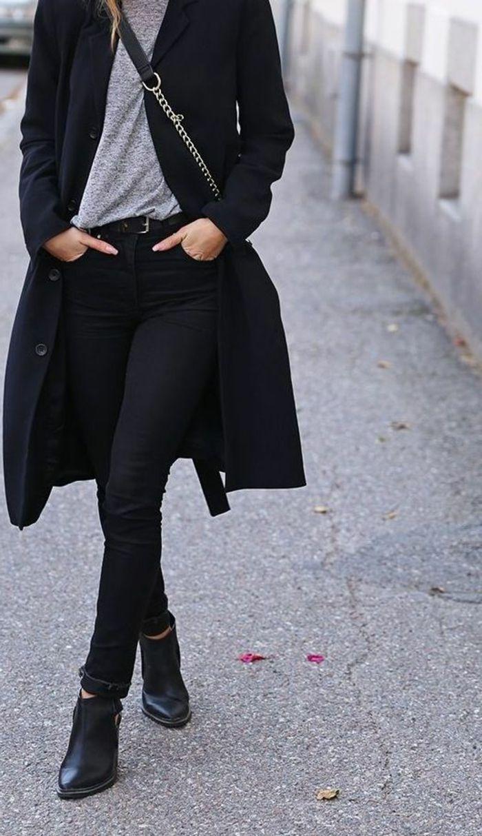Schwarzer mantel pinterest