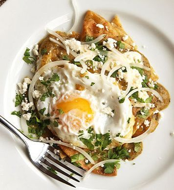 #Chilaquiles- For a tasty treat to start your #day off right, chilaquiles are a staple within the Mexican community. This delicious meal is certain to put a smile on your face.