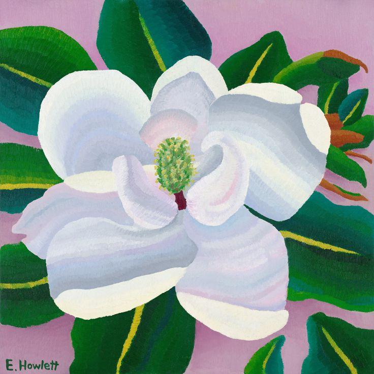 Magnolia, oil on canvas board, Elisabeth Howlett, 2009