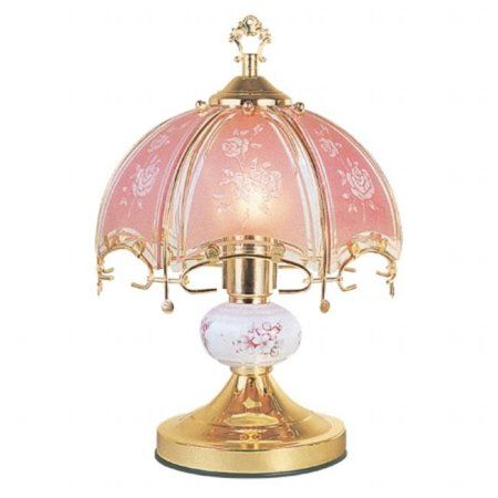 Buy ore international k312 14 25in touch lamp floral at walmart com