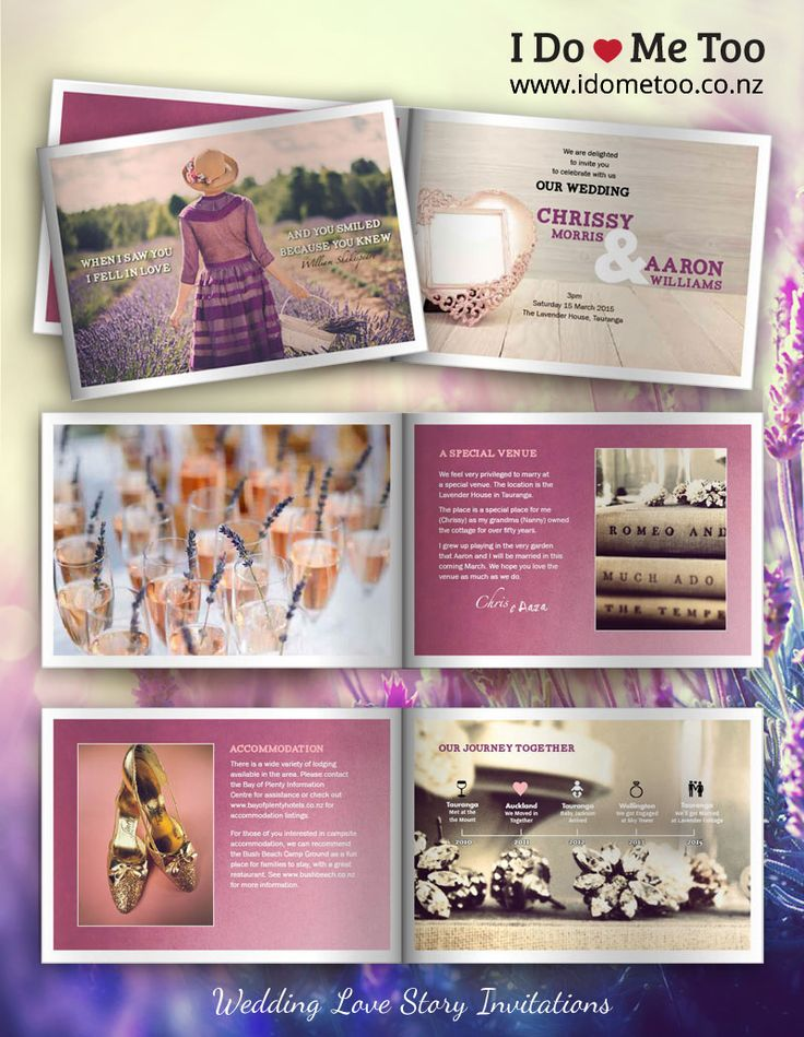 Lavender and Literature Wedding Invitation Style: This refined and elegant invitation style provides plenty of inspiration for wedding props and themes. Each 8-page invitation is fully customisable to express your unique identity as a couple. Check inside this invitation now and imagine your own love story at www.idometoo.co.n... #weddingstationery #weddinginvites #invitation #weddinginspiration